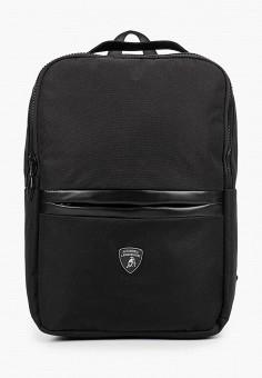 Рюкзак, Automobili Lamborghini, цвет: черный. Артикул: AU007BMHIMS9. Аксессуары