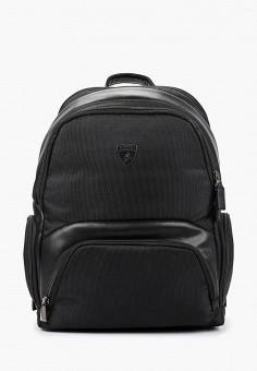 Рюкзак, Automobili Lamborghini, цвет: черный. Артикул: AU007BMHIMT2. Аксессуары / Рюкзаки