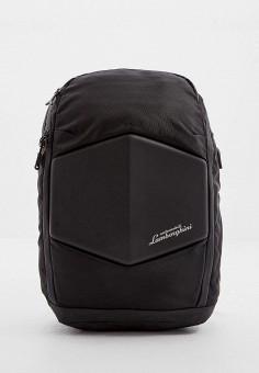 Рюкзак, Automobili Lamborghini, цвет: черный. Артикул: AU007BMHIMU9. Аксессуары / Рюкзаки