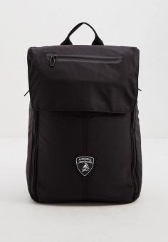 Рюкзак, Automobili Lamborghini, цвет: черный. Артикул: AU007BMJLOR9. Аксессуары / Рюкзаки