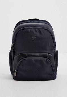 Рюкзак, Automobili Lamborghini, цвет: синий. Артикул: AU007BMJNTR6. Аксессуары / Рюкзаки