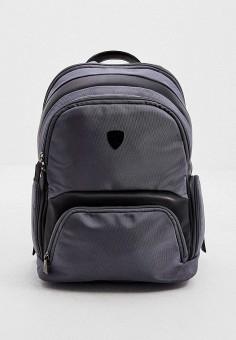 Рюкзак, Automobili Lamborghini, цвет: серый. Артикул: AU007BMJNTR7. Аксессуары / Рюкзаки