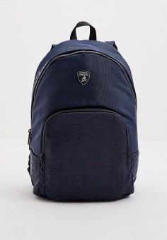 Рюкзак, Automobili Lamborghini, цвет: синий. Артикул: AU007BMKEOY9. Аксессуары / Рюкзаки
