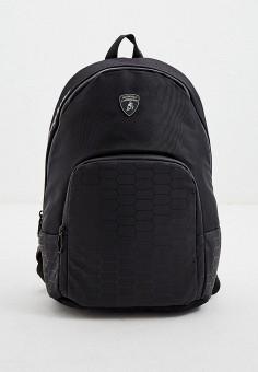 Рюкзак, Automobili Lamborghini, цвет: черный. Артикул: AU007BMKEOZ0. Аксессуары / Рюкзаки