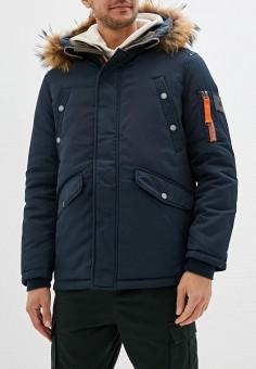 Куртка утепленная, Baon, цвет: синий. Артикул: BA007EMFZJW1. Одежда / Верхняя одежда / Демисезонные куртки