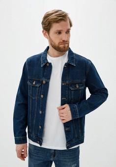 Куртка джинсовая, Baon, цвет: синий. Артикул: BA007EMIHGU3. Одежда / Верхняя одежда