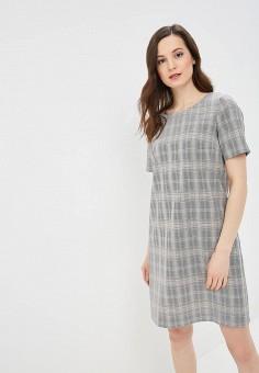 Платье, Baon, цвет: серый. Артикул: BA007EWDXAC3. Одежда / Платья и сарафаны / Повседневные платья