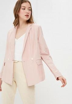 Пиджак, Baon, цвет: розовый. Артикул: BA007EWDXAO8. Одежда / Пиджаки и костюмы