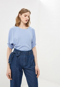 Блуза, Baon, цвет: голубой. Артикул: BA007EWDXAR3. Одежда / Блузы и рубашки / Блузы
