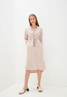 Платье, Baon, цвет: розовый. Артикул: BA007EWIHFI6. Одежда / Платья и сарафаны / Повседневные платья