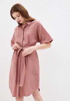 Платье, Baon, цвет: розовый. Артикул: BA007EWIHFI8.