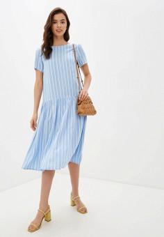 Платье, Baon, цвет: голубой. Артикул: BA007EWIHFI9. Одежда