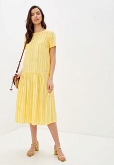Платье, Baon, цвет: желтый. Артикул: BA007EWIHFJ0.