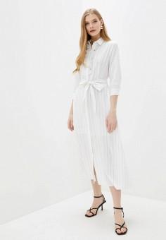Платье, Baon, цвет: белый. Артикул: BA007EWIHFJ5. Одежда / Платья и сарафаны
