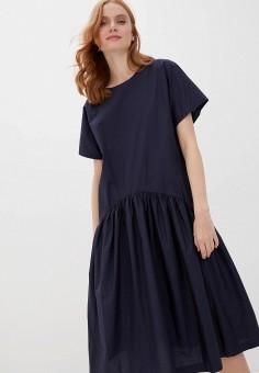 Платье, Baon, цвет: синий. Артикул: BA007EWIHFJ6.