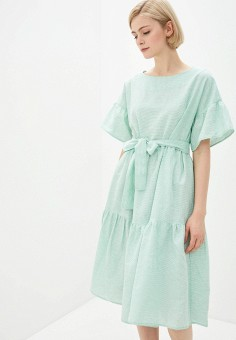 Платье, Baon, цвет: зеленый. Артикул: BA007EWIHFK0. Одежда / Платья и сарафаны