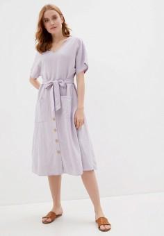 Платье, Baon, цвет: фиолетовый. Артикул: BA007EWIHGE5. Одежда / Платья и сарафаны