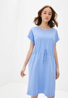Платье, Baon, цвет: голубой. Артикул: BA007EWIHGG2. Одежда / Платья и сарафаны / Повседневные платья