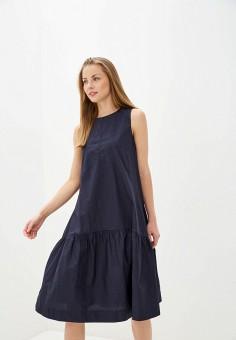 Платье, Baon, цвет: синий. Артикул: BA007EWIHGH2. Одежда / Платья и сарафаны / Повседневные платья