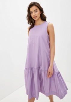 Платье, Baon, цвет: фиолетовый. Артикул: BA007EWIHGH4. Одежда / Платья и сарафаны / Повседневные платья