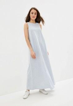 Платье, Baon, цвет: голубой. Артикул: BA007EWIHGH5. Одежда / Платья и сарафаны / Повседневные платья