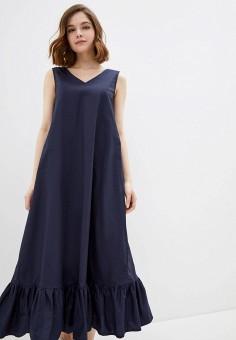 Платье, Baon, цвет: синий. Артикул: BA007EWIHGJ8.
