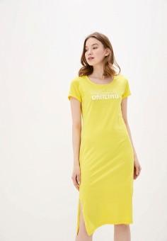 Платье, Baon, цвет: желтый. Артикул: BA007EWIHGP8.