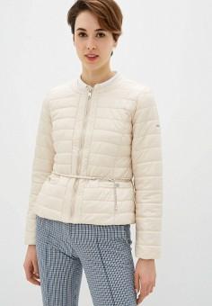 Куртка утепленная, Baon, цвет: бежевый. Артикул: BA007EWIVXM5. Одежда / Верхняя одежда / Демисезонные куртки