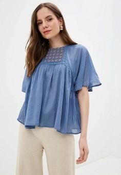 Блуза, Baon, цвет: синий. Артикул: BA007EWJHQA1.