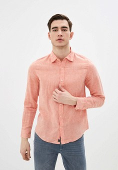 Рубашка, Banana Republic, цвет: оранжевый. Артикул: BA067EMIDDD6. Одежда / Рубашки / Рубашки с длинным рукавом