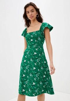Платье, Banana Republic, цвет: зеленый. Артикул: BA067EWIDGG9.