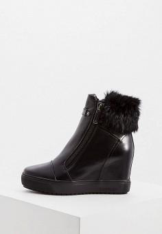 Ботильоны, Baldinini, цвет: черный. Артикул: BA097AWFLES1. Обувь / Ботильоны