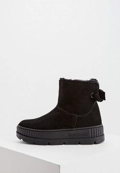 Полусапоги, Baldinini, цвет: черный. Артикул: BA097AWFLFZ5. Обувь / Сапоги / Полусапоги