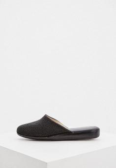 Тапочки, Baldinini, цвет: черный. Артикул: BA097AWHQJS2. Обувь / Домашняя обувь