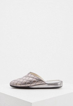 Тапочки, Baldinini, цвет: серебряный. Артикул: BA097AWHQJS4. Обувь / Домашняя обувь