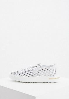 Слипоны, Baldinini, цвет: белый. Артикул: BA097AWIPWT4. Обувь / Слипоны