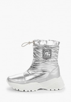 Дутики, Baden, цвет: серебряный. Артикул: BA993AWFSUN4. Обувь / Сапоги / Дутики