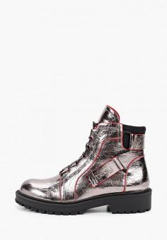 Ботинки, Betsy, цвет: серебряный. Артикул: BE006AGKBMT8. Девочкам / Обувь