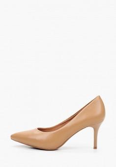 Туфли, Betsy, цвет: бежевый. Артикул: BE006AWKDEA7. Обувь / Туфли / Лодочки