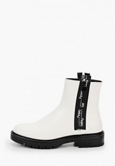 Ботинки, Betsy, цвет: белый. Артикул: BE006AWKDEE6. Обувь / Ботинки / Высокие ботинки