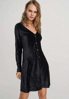 Платье, Befree, цвет: черный. Артикул: BE031EWFOPY2.