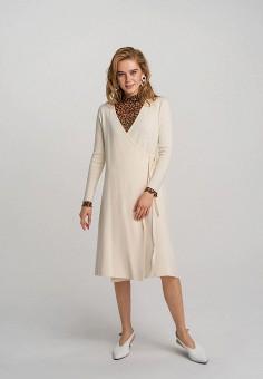 Платье, Befree, цвет: бежевый. Артикул: BE031EWHCPS6.