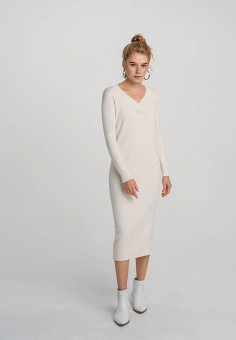 Платье, Befree, цвет: бежевый. Артикул: BE031EWHCPT6.