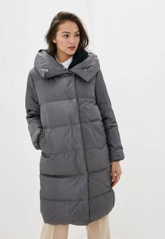 Пуховик, Befree, цвет: серый. Артикул: BE031EWHCPV8. Одежда / Верхняя одежда / Пуховики и зимние куртки / Пуховики