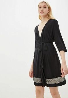 Халат домашний, Befree, цвет: черный. Артикул: BE031EWHCPX7. Одежда / Домашняя одежда