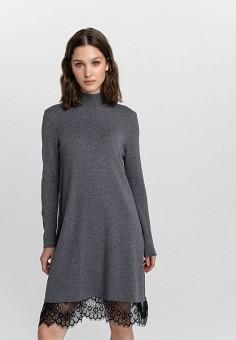 Платье, Befree, цвет: серый. Артикул: BE031EWHCPY7.