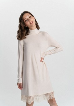 Платье, Befree, цвет: бежевый. Артикул: BE031EWHCPY9.