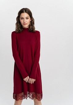 Платье, Befree, цвет: бордовый. Артикул: BE031EWHCPZ0.