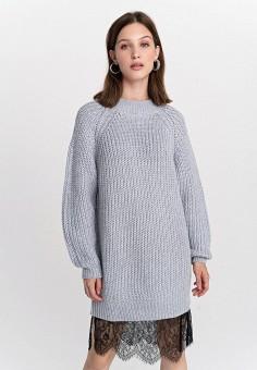Платье, Befree, цвет: серый. Артикул: BE031EWHCPZ5.