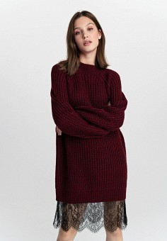 Платье, Befree, цвет: бордовый. Артикул: BE031EWHCPZ7.